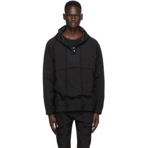Nahmias Black Lace-Up Hooded Jacket