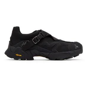 ROA Black Nylon Minaar Sneakers