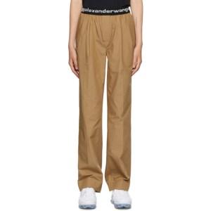 alexanderwang.t Tan Pull-On Pleated Lounge Pants