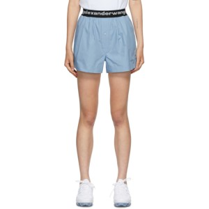 alexanderwang.t Blue Logo Boxer-Style Shorts