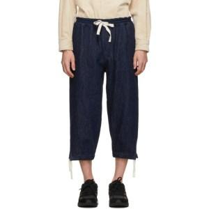 Kuro Indigo Denim Easy Trousers