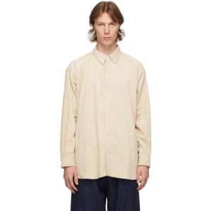 Kuro Off-White Corduroy Big Shirt