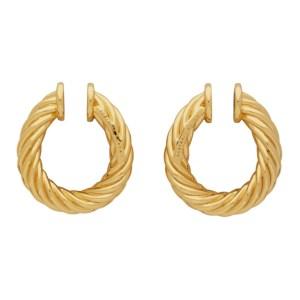 Portrait Report Gold Mini Twist Ring Rope Ear Cuffs