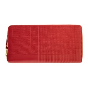 Comme des Garcons Wallets Red Medium Intersection Zip Wallet