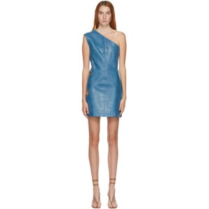 Saks Potts SSENSE Exclusive Blue Eyelet Dress