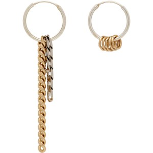 Justine Clenquet Silver and Gold Jane Hoop Earrings