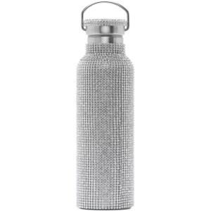 Collina Strada SSENSE Exclusive Silver Rhinestone Water Bottle