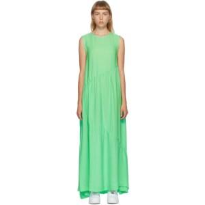 Collina Strada SSENSE Exclusive Green Silk Ritual Dress