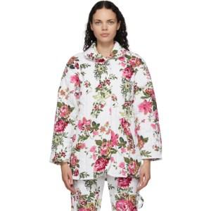 Collina Strada White Corduroy Rose Shelter Jacket