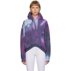 Collina Strada Multicolor Spiral Tie-Dye Round Hem Hoodie