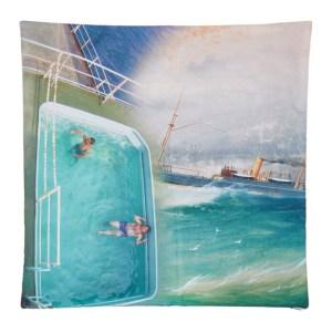 Serapis Multicolor Pool Tanker Pillowcase
