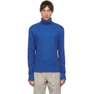 Serapis Blue Rib Knit Turtleneck