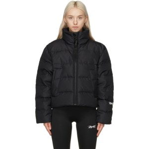 Reebok By Victoria Beckham Black Down Cropped Puffer Jacket