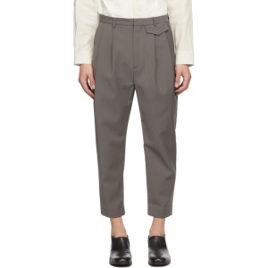 Deveaux New York SSENSE Exclusive Taupe Wyatt Trousers