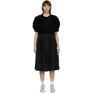 Comme des Garcons Black Velvet Mid-Length Dress