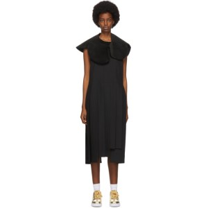 Comme des Garcons Black Asymmetric Pleated Dress