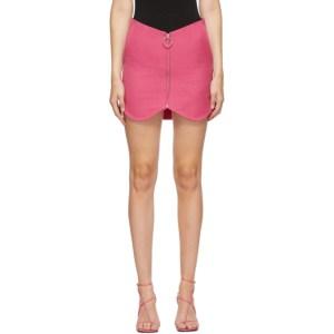 Pushbutton SSENSE Exclusive Pink Wool Zippered Miniskirt