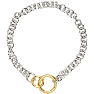Laura Lombardi SSENSE Exclusive Silver Two-Tone Fede Necklace