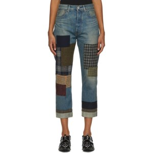 Junya Watanabe Blue Patchwork Jeans