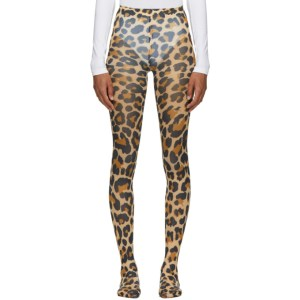 Junya Watanabe Brown Leopard Tights