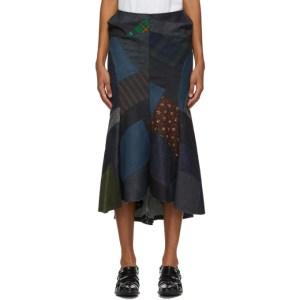 Junya Watanabe Indigo Denim Patchwork Skirt
