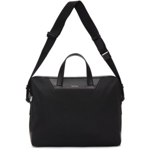 Paul Smith Black Canvas Signature Stripe Folio Briefcase