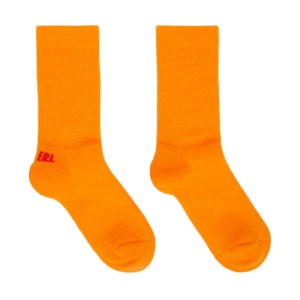 ERL Orange and Red Logo Socks