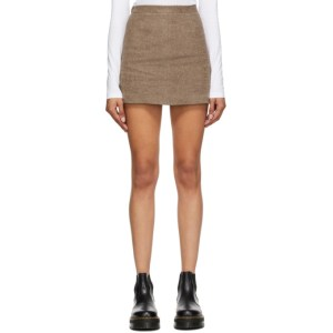 Opening Ceremony Brown Felted Miniskirt