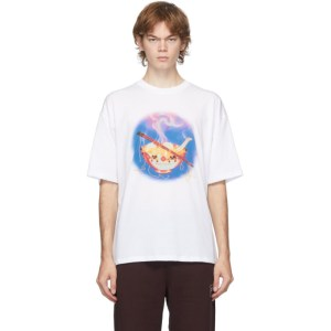 Opening Ceremony White Noodle Print T-Shirt
