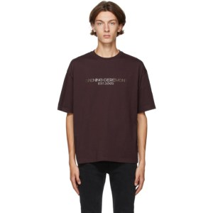 Opening Ceremony Brown Embroidered Logo T-Shirt
