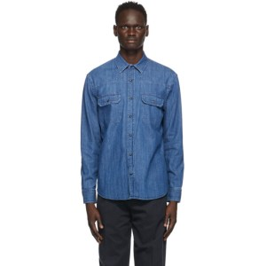 Ermenegildo Zegna Blue Denim Shirt