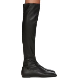 Giuseppe Zanotti Black Leather Stretch Tall Boots