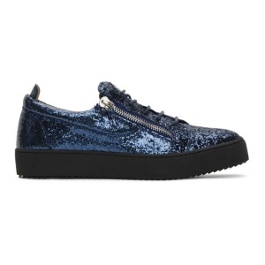 Giuseppe Zanotti Blue Glitter May London Sneakers