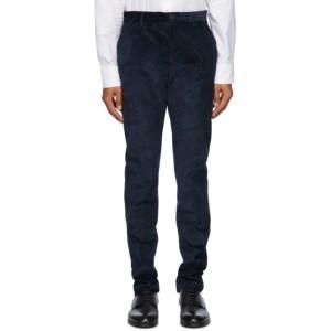 Etro Navy Paisley Corduroy Trousers
