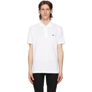Lacoste White L.12.12 Polo