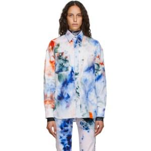 S.R. STUDIO. LA. CA. White SOTO Hand-Dyed Denim Shirt