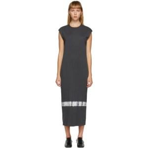 Raquel Allegra Grey Tie-Dye Column Dress