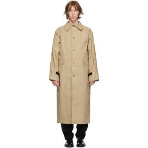 KASSL Editions Beige Waxed Original Long Coat