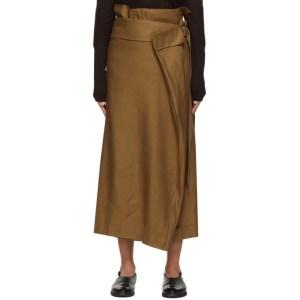 Regulation Yohji Yamamoto Beige Wrap Trousers