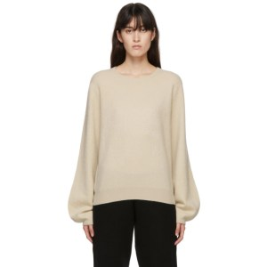 Frenckenberger Off-White Cashmere Mini R-Neck Sweater