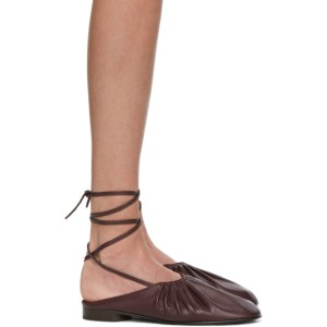 3.1 Phillip Lim Purple Nadia Lace-Up Ballet Loafers