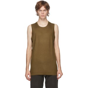 Frenckenberger SSENSE Exclusive Tan Cashmere Tank Top
