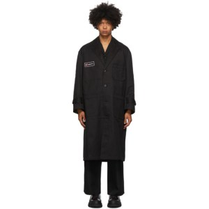 both Black Second Layer Edition Single-Breasted Technician Coat