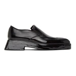both Black Gang Loafers