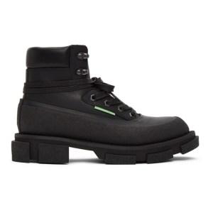 both Black Gao Mid Boots