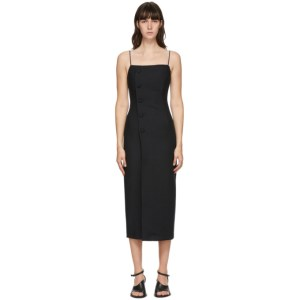 Materiel Tbilisi Black Fitted Mid-Length Dress