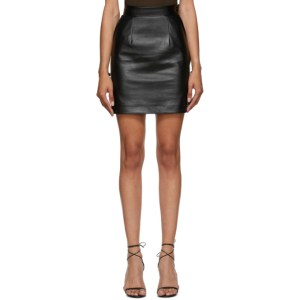 Materiel Tbilisi Black Faux-Leather Miniskirt