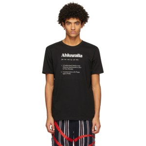 Ahluwalia Black Logo Definition T-Shirt