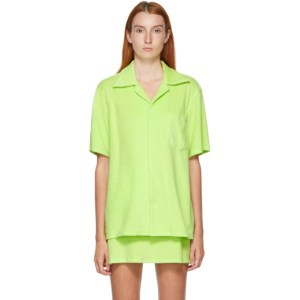 Gil Rodriguez SSENSE Exclusive Green Terry Bowling Shirt