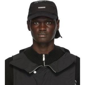 C2H4 Black Two-In-One Durag Cap